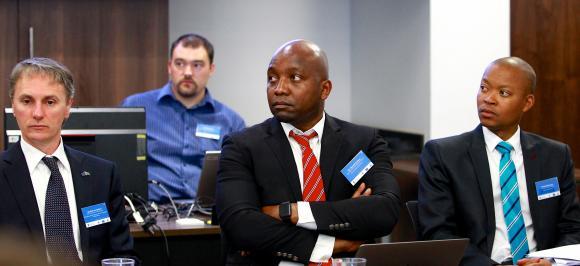 Bart Van Uylsteen (EU Delegation to South Africa), Maxwell Gomera (UN Environment), Michael Manamela (STATS SA)